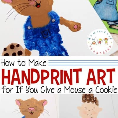 If You Give a Mouse a Cookie Handprint Art for Kids