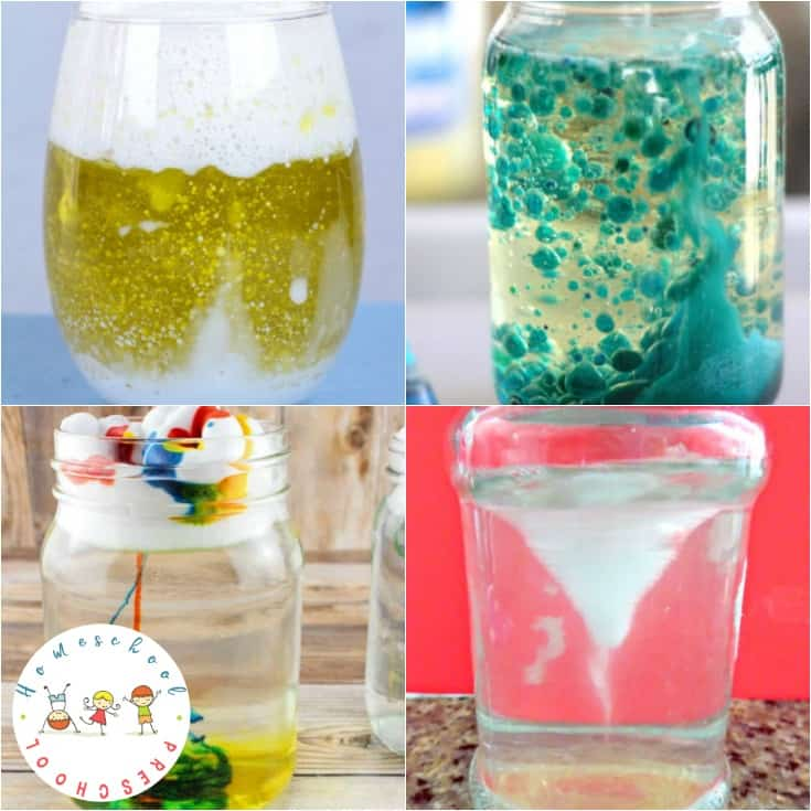 Engage your preschoolers this summer with one or more of these jar science experiments! Easy science experiments for young learners!