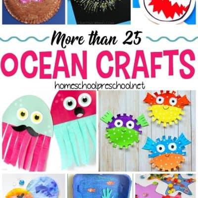 30+ Ocean Themed Crafts for Preschool