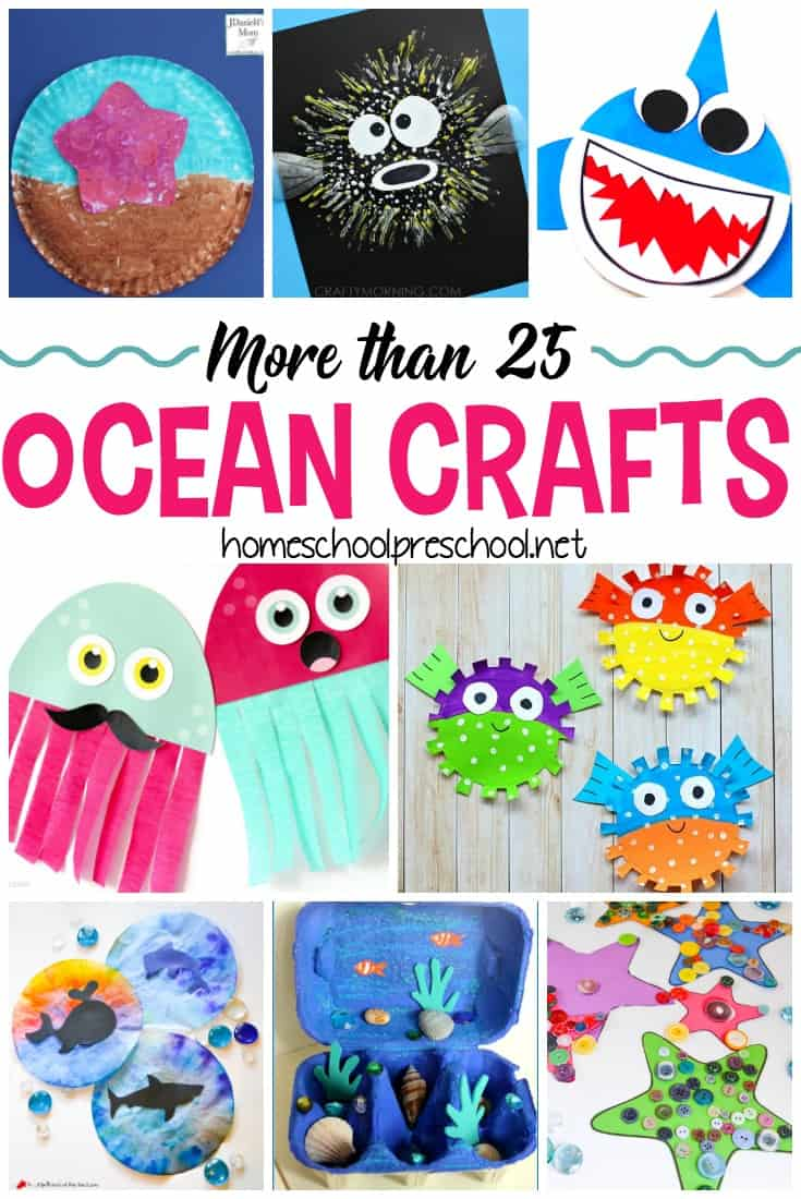 Are you looking for something fun for your kids to do this summer? How about making one of these fun ocean crafts for kids!