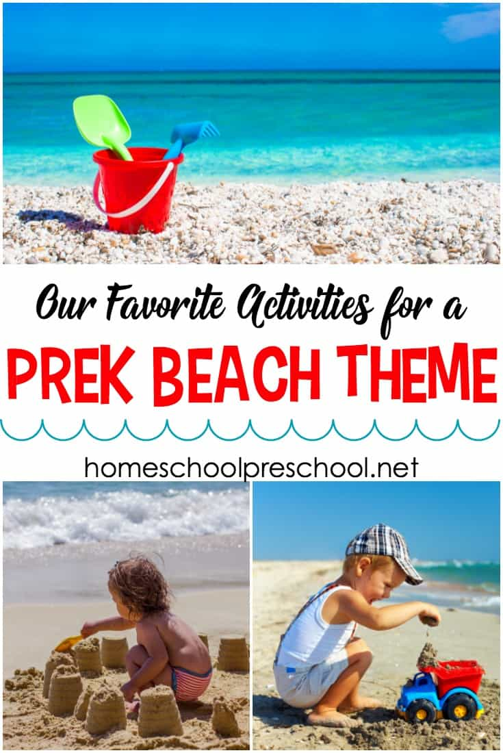 Summertime means beach time. Whether you're heading to the beach or just learning about it, these are the best activities for your preschool beach theme.