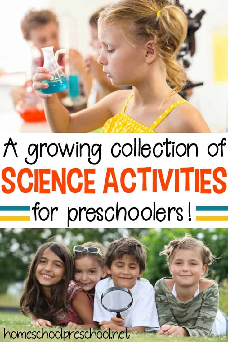 Introduce your preschoolers to many different scientific topics with this growing collection of preschool science activities, books, and printables.