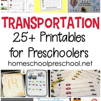 The Best Preschool Transportation Theme Printables