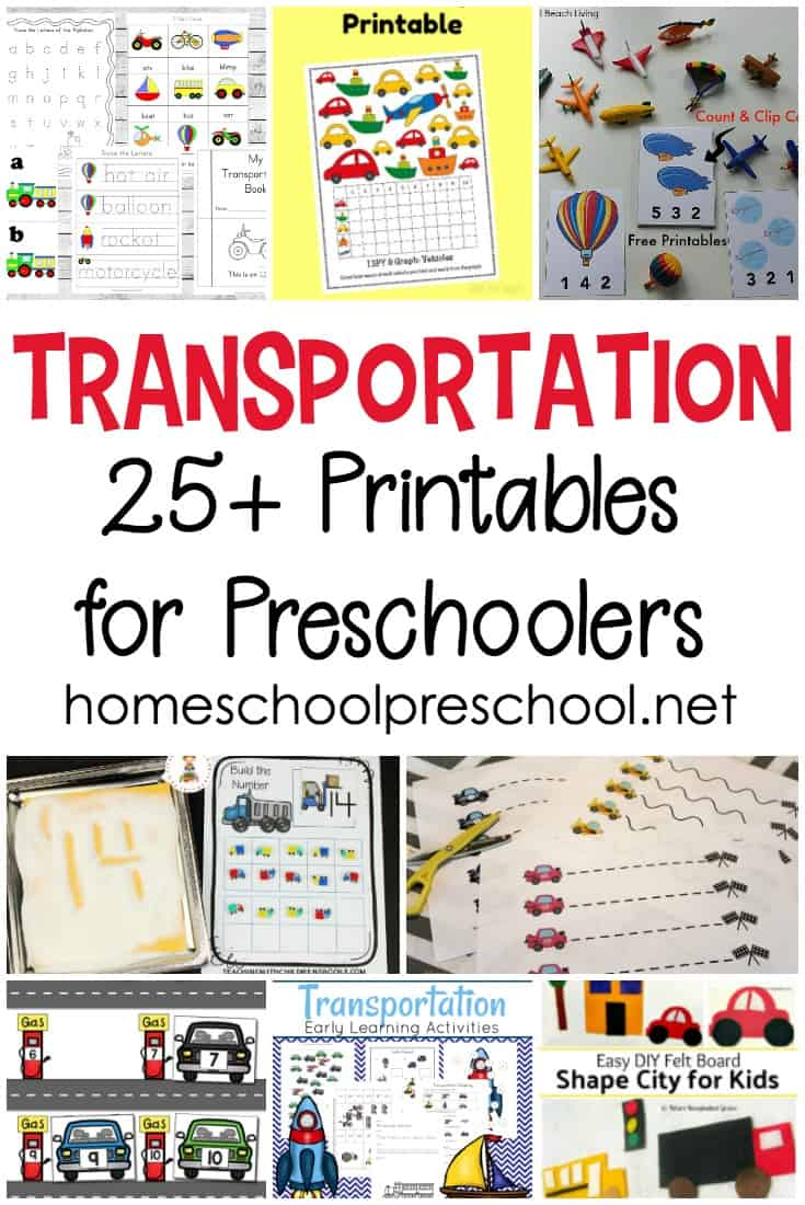 Planes, trains, and automobiles! You'll find all of those and more in this collection of the best preschool transportation theme printables.