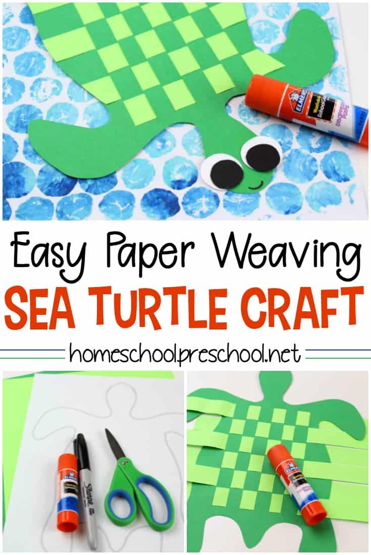 How To Make A Simple Paper Weaving Sea Turtle Kids Craft