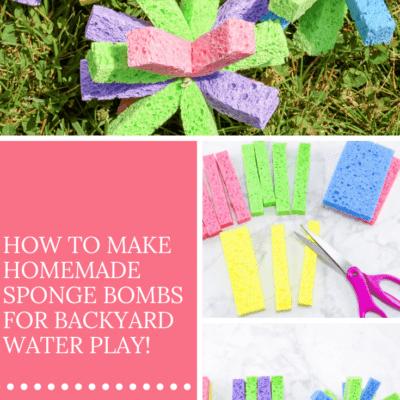 How to Make Sponge Water Bombs