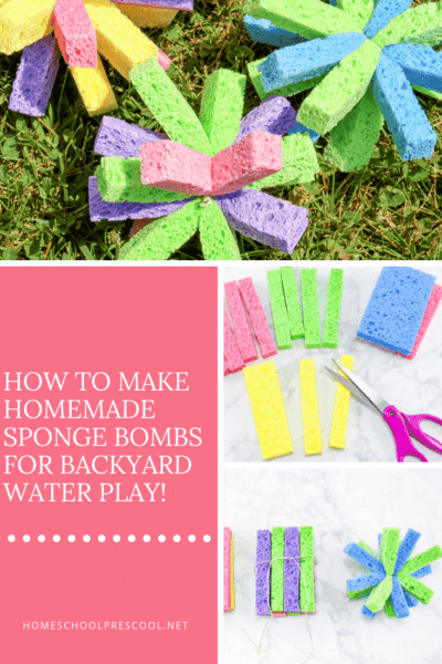 Have you ever made sponge water bombs with your kids? If not, check out the super simple tutorial below. Get ready for an amazing afternoon of summer fun!