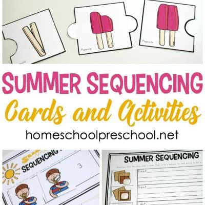 Summer Sequencing Cards for Preschoolers