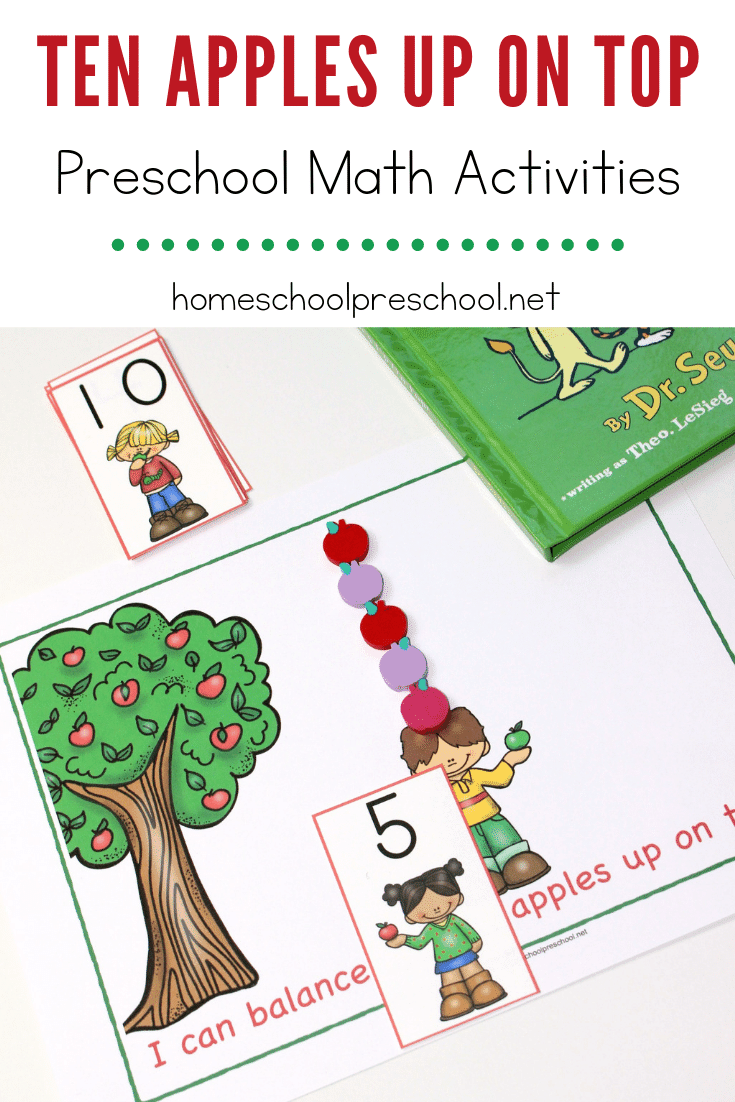 Bring the story to life when you add these Ten Apples Up on Top to your early learning math centers. Counting to ten has never been so fun!