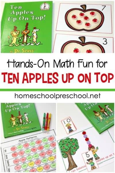Ten Apples Up On Top Preschool Math Activities