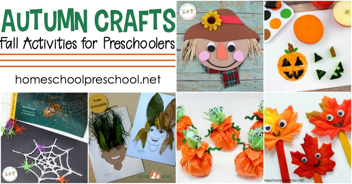 Leaves, scarecrows, apples, pumpkins and more. These easy activities and crafts are perfect along side your autumn preschool lessons!