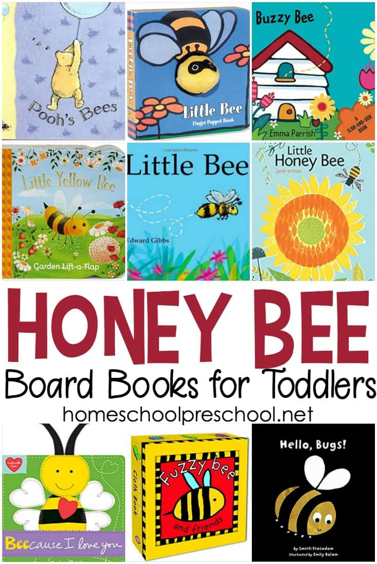 9 of our favorite bee books for toddlers! Engage your little ones this spring and summer with this great collection of board books featuring bees.