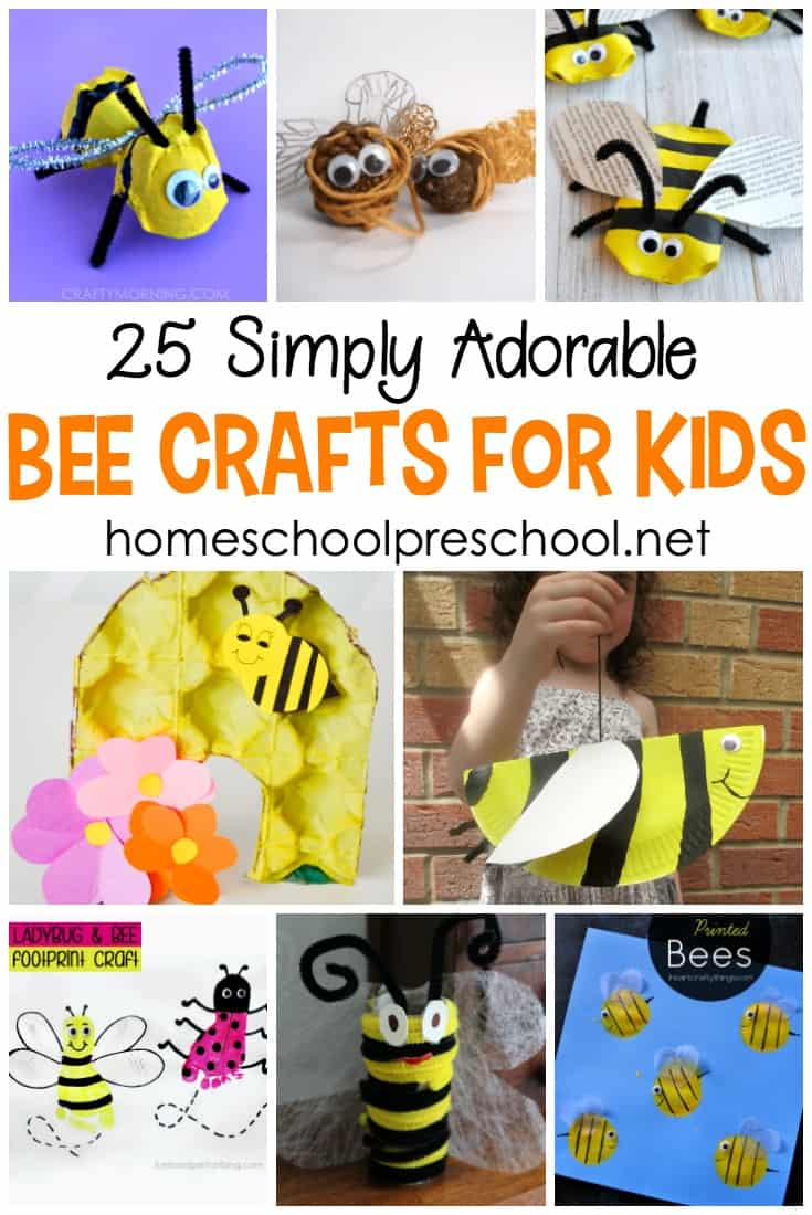 Fly on over and check out these adorable crafts featuring bees for kids. They're perfect for spring and summer crafting.