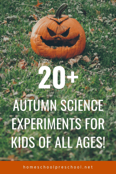 Pumpkins, apples, leaves, and more! Come discover 20 engaging fall science experiments for preschoolers! Hands-on learning for the season.