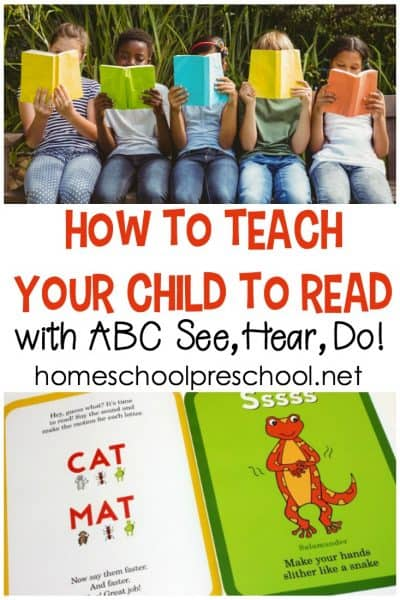 Are you wondering how to teach a child to read? ABC See, Hear, Do is an amazing tool that works with kinesthetic, auditory, and visual learners!