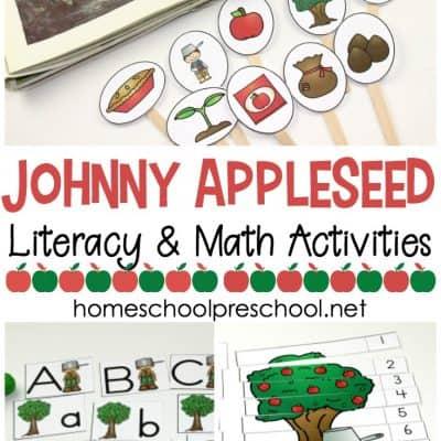 Johnny Appleseed Preschool Printable Activity Pack