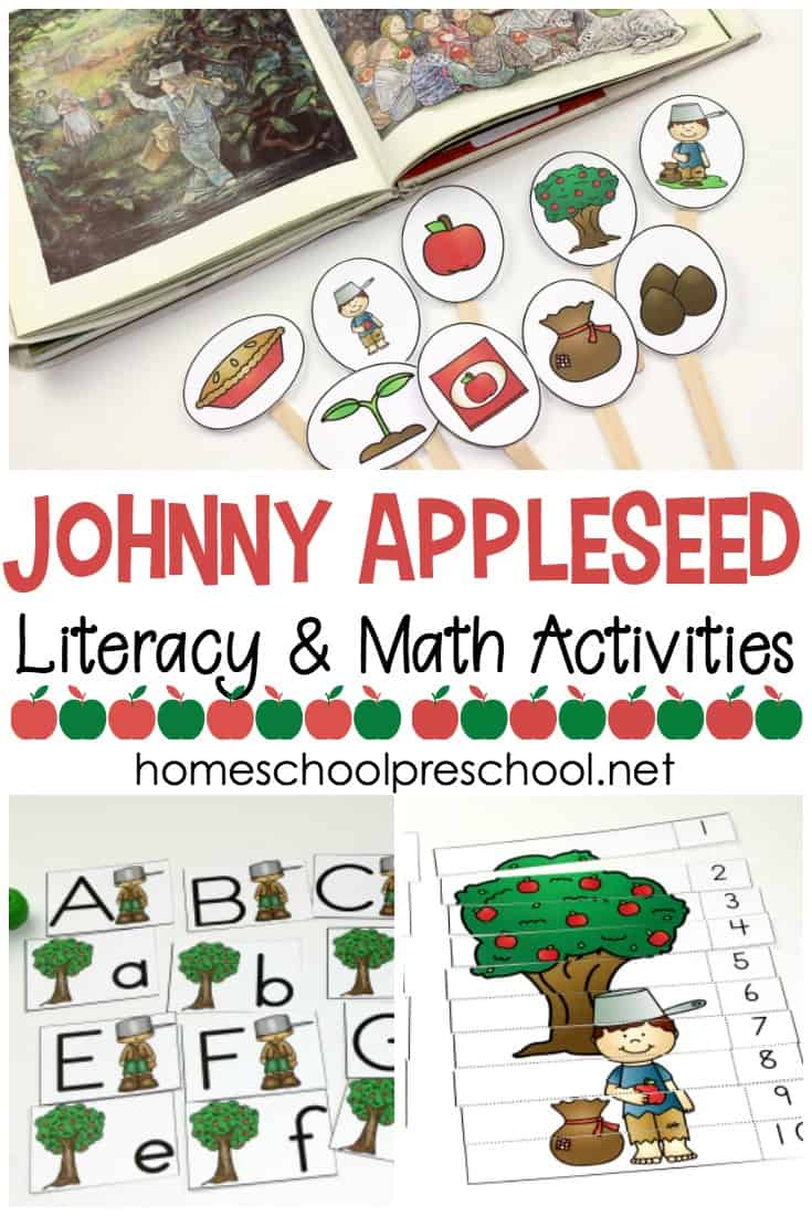 Free Johnny Appleseed Preschool Printable Activity Pack