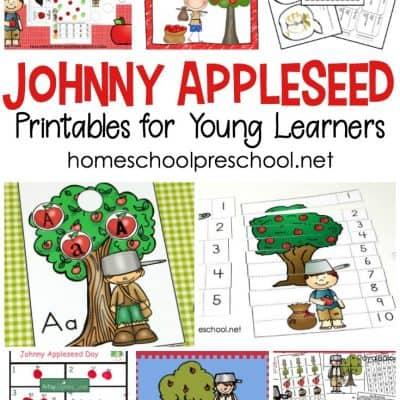 Printable Johnny Appleseed Activities for Preschoolers