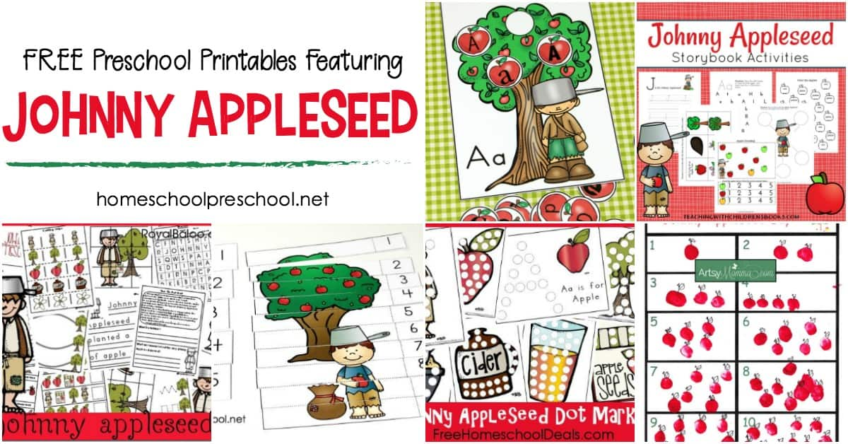 photo regarding Johnny Appleseed Printable Story named No cost Printable Johnny Appleseed Things to do for Preschoolers