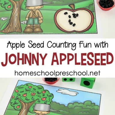 Counting Fun with Johnny Appleseed for Preschool