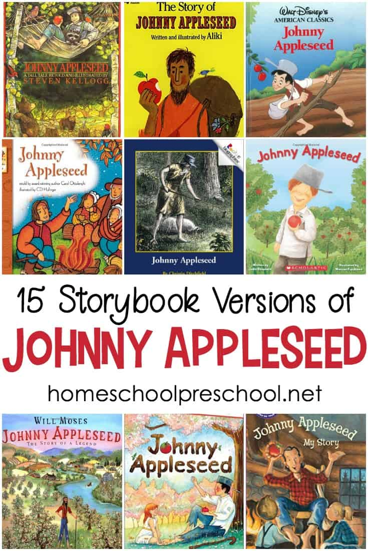 Fill your autumn book basket with one or more of these storybook versions of the Johnny Appleseed story. Perfect for Johnny Appleseed Day!