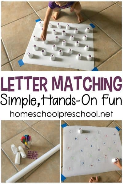 You won't believe how easy it is to set up this hands-on letter matching game for preschoolers. Kids will work on letter recognition and motor skills, as well