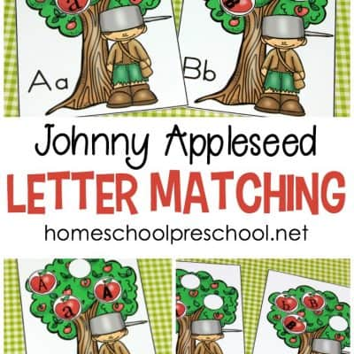 Johnny Appleseed Letter Matching Game