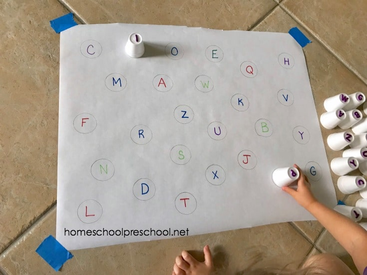 You won't believe how easy it is to set up this hands-on letter matching game for preschoolers. Kids will work on letter recognition and motor skills, as well.