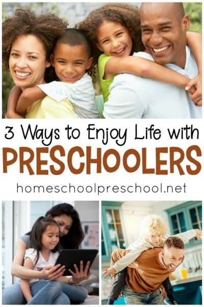 Discover 3 simple ways to enjoy life with preschoolers - even on their most trying days. With a shift in perspective, you can make the most of these years.
