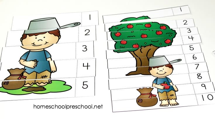Whether you're celebrating Johnny Appleseed Day or supplementing your apples preschool theme, don't miss this free Johnny Appleseed preschool activity pack!