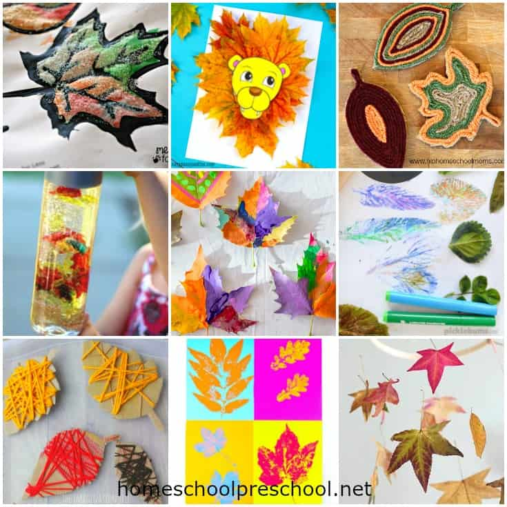 As the leaves begin to change colors, inspire your preschoolers to explore their creative side with these simple fall leaf crafts and activities.