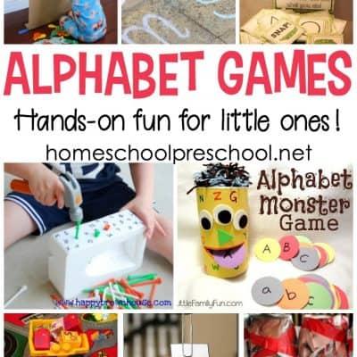 Hands-On Alphabet Games for Preschoolers