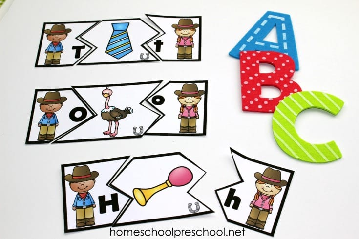 photograph about Alphabet Puzzle Printable titled Cost-free Wild West Themed Alphabet Puzzle Printables