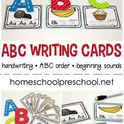Alphabet Writing Cards