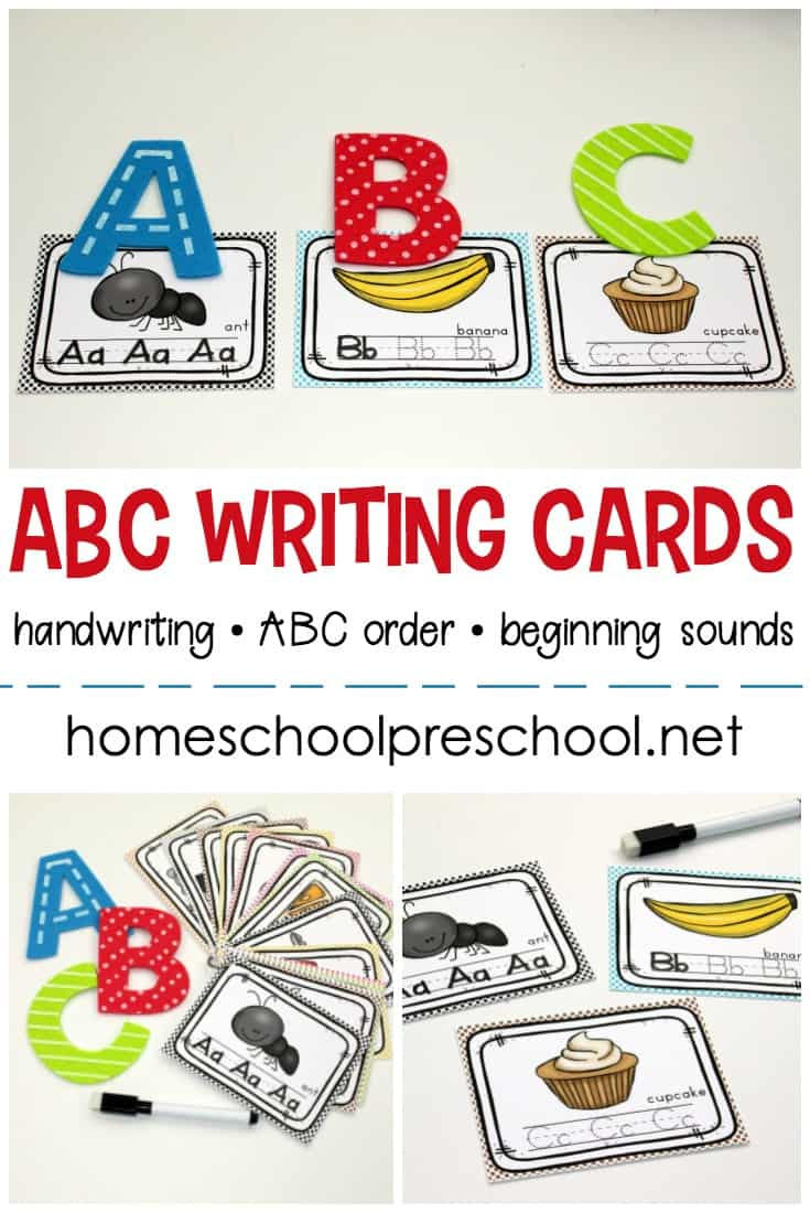 graphic regarding Printable Abc called Totally free Clip and Move Printable Alphabet Creating Playing cards