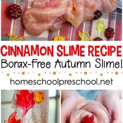 How to Make Cinnamon Scented Fall Slime with Leaves