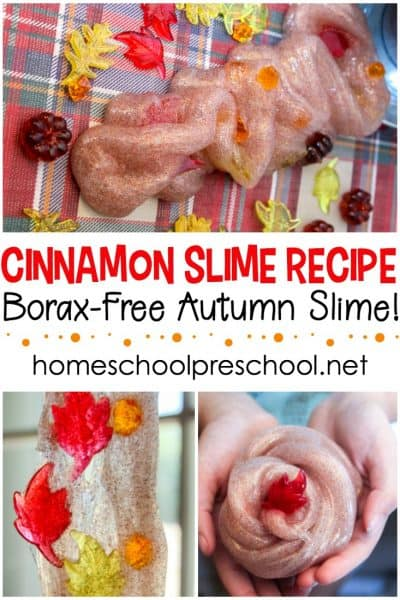 Amazing DIY cinnamon scented fall slime! This simple homemade cinnamon slime is perfect for kids of all ages! Make a batch today.