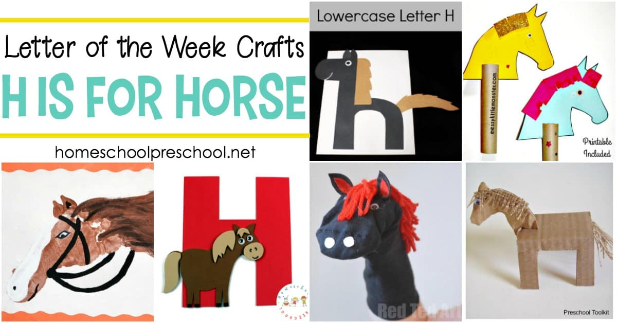 12 Delightful Letter H Horse Crafts For Kids Of All Ages