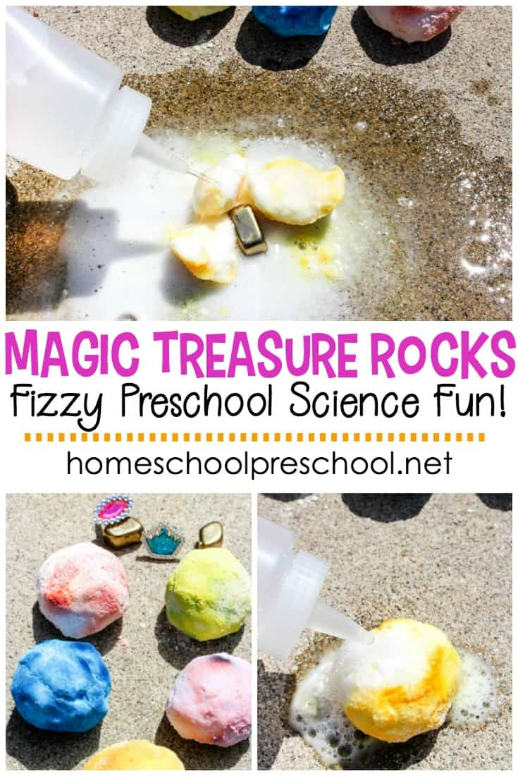 Come learn how to make magic treasure rocks with your kids. Kids will have tons of pirate-y science fun for Talk Like a Pirate Day (or any day)!