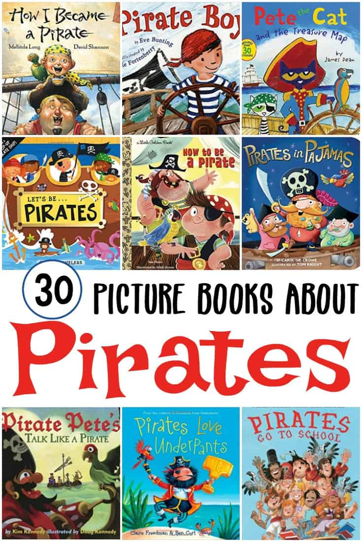 Whether you're gearing up for Talk Like a Pirate Day or your preschoolers want to read about them, these pirate books are perfect for kids!