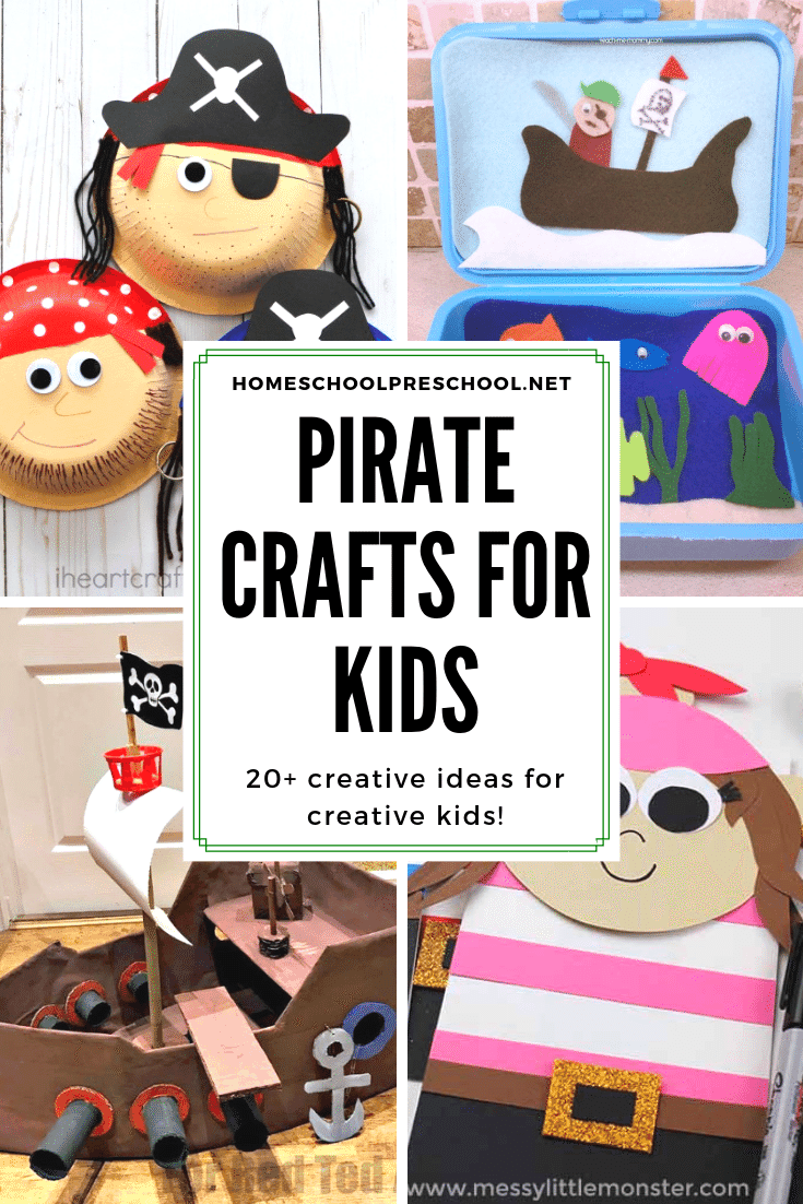 "These pirate crafts for kids ""aaarrr"" the best! They're simple and engaging, and they're sure to inspire hours of imaginative play for preschoolers."