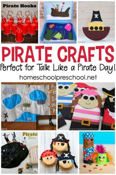 """These pirate crafts for kids """"aaarrr"""" the best! They're simple and engaging, and they're sure to inspire hours of imaginative play for preschoolers."""