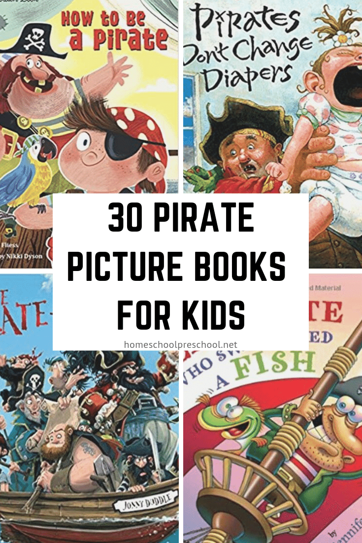 Whether you're gearing up for Talk Like a Pirate Day or your preschoolers want to read about them, these pirate books for kidsare perfect!