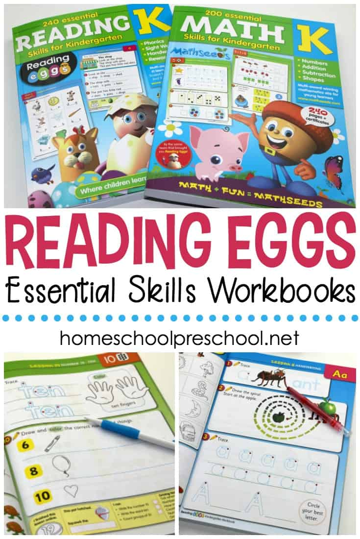 Many preschool and kindergarten children learn to read with the help of Reading Eggs. Now, you can enhance those lessons with Reading Eggs workbooks!