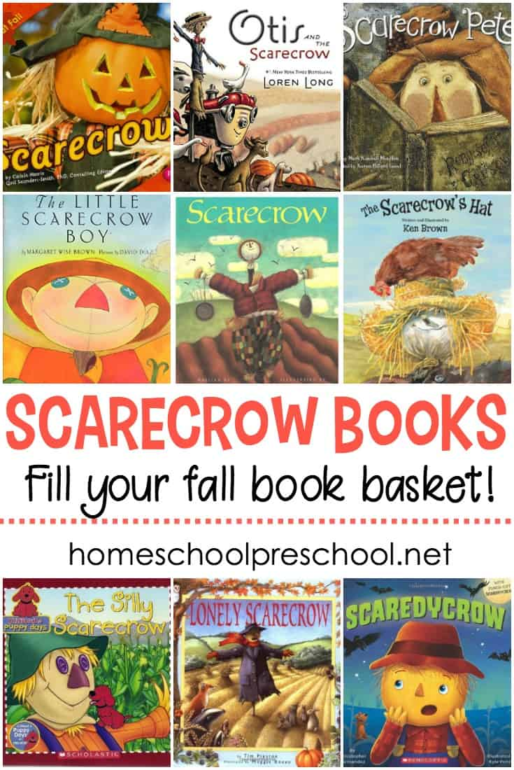 Autumn is the perfect time to read about scarecrows with your preschoolers. This collection of scarecrow books for kids is a great place to start!