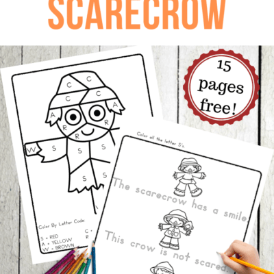 Scarecrow Themed Alphabet Worksheets for Fall