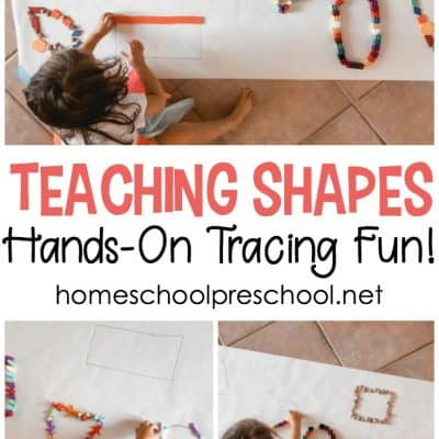 Simple Hands-On Activity for Teaching Shapes for Kids