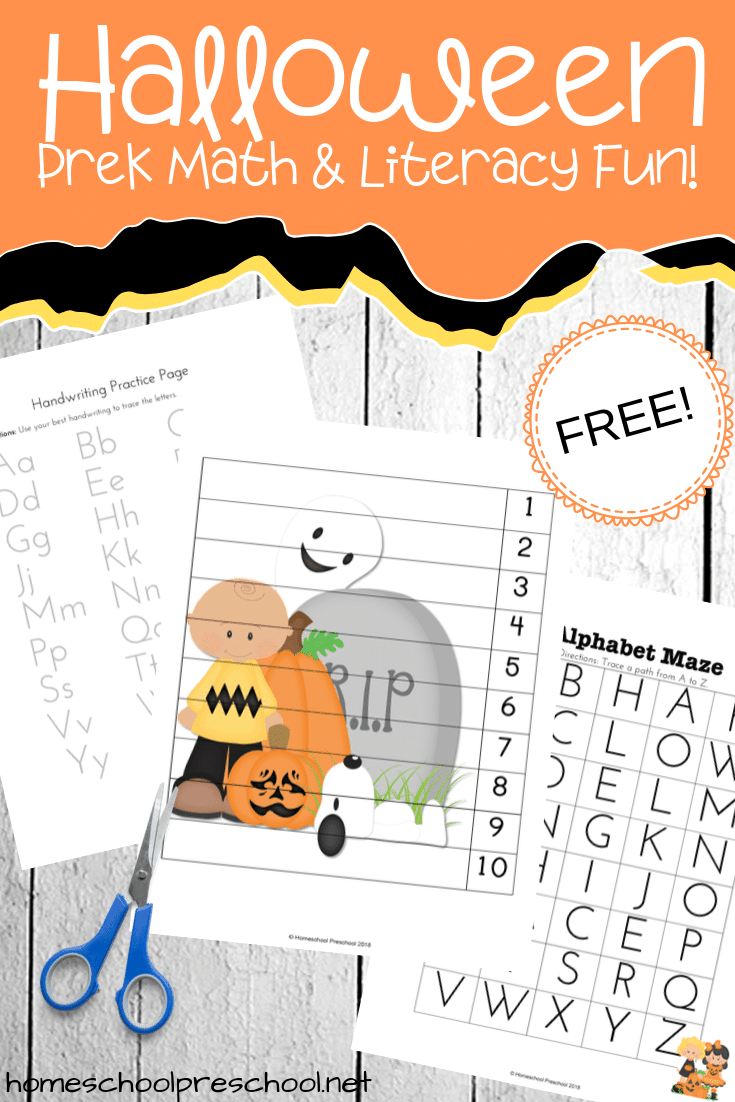 Is Halloween really just a few weeks away? Here's a fun pack of Halloween printable activities for preschoolers featuring some of my favorite characters!