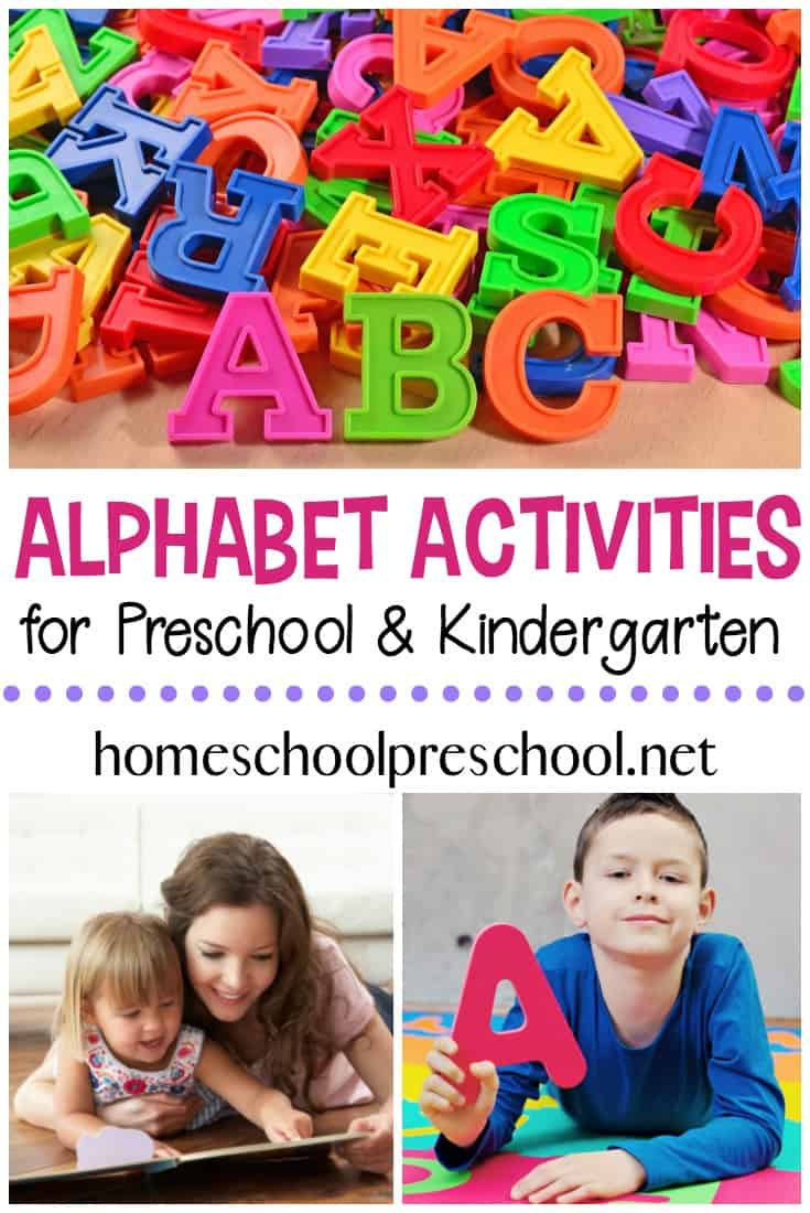 Teaching little ones to read begins with the alphabet. These alphabet activities for preschoolers are great for teaching and reinforcing the ABCs.