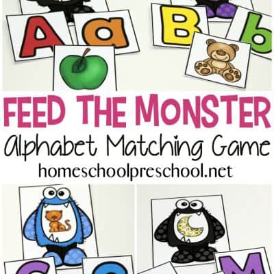 Free Printable Feed the Monster Alphabet Game